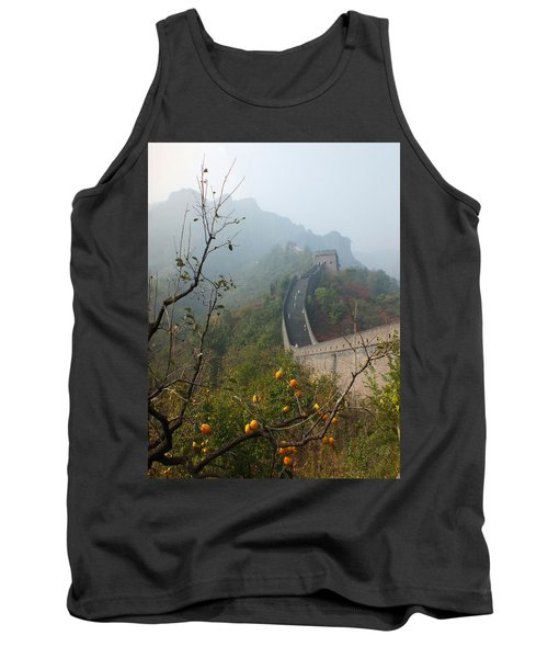 Harvest Time At The Great Wall Of China Tank Top