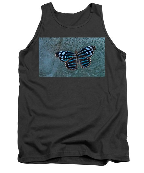 Hdr Butterfly Tank Top by Elaine Malott