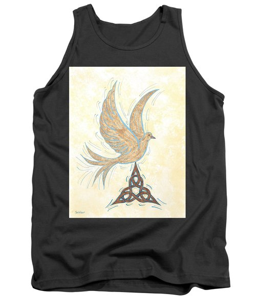 Tank Top featuring the painting He Set Us Free by Susie WEBER
