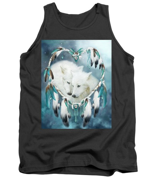 Tank Top featuring the mixed media Heart Of A Wolf by Carol Cavalaris