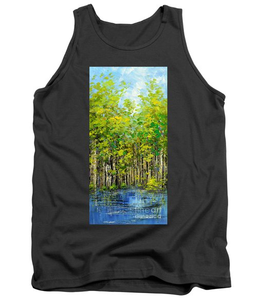 Tank Top featuring the painting Heat Of Summer by Tatiana Iliina