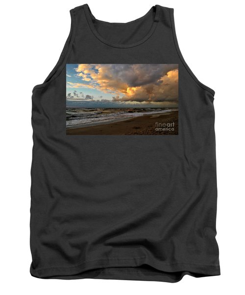 Tank Top featuring the photograph Heavy Clouds Over Baltic Sea by Maja Sokolowska