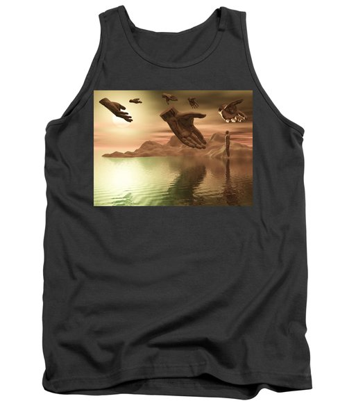 Tank Top featuring the digital art Helping Hands by John Alexander