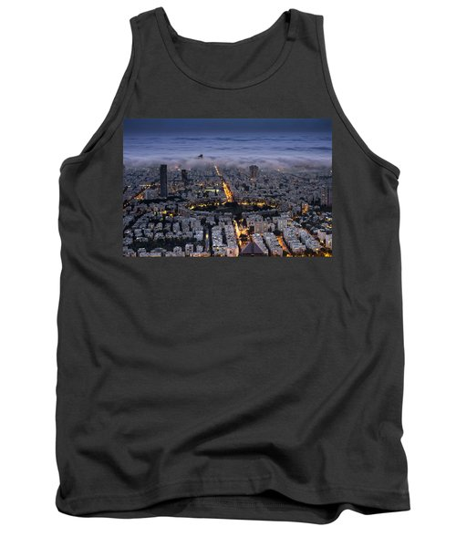 Tank Top featuring the photograph Here Comes The Fog  by Ron Shoshani