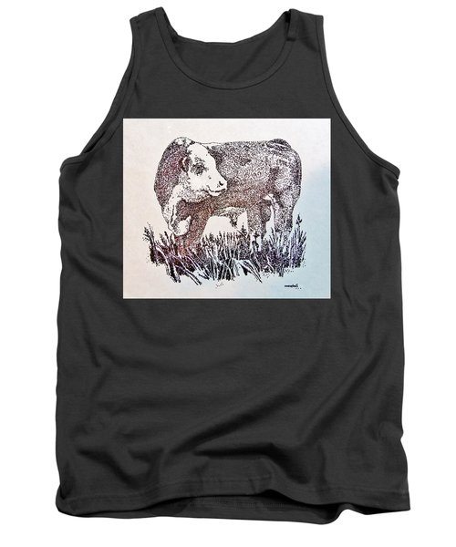 Polled Hereford Bull  Tank Top