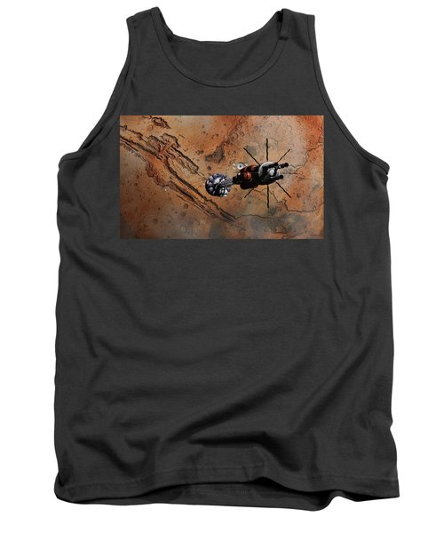 Hermes1 With The Mars Lander Ares1 In Sight Tank Top by David Robinson