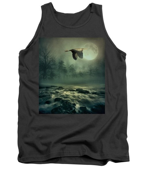 Heron By Moonlight Tank Top