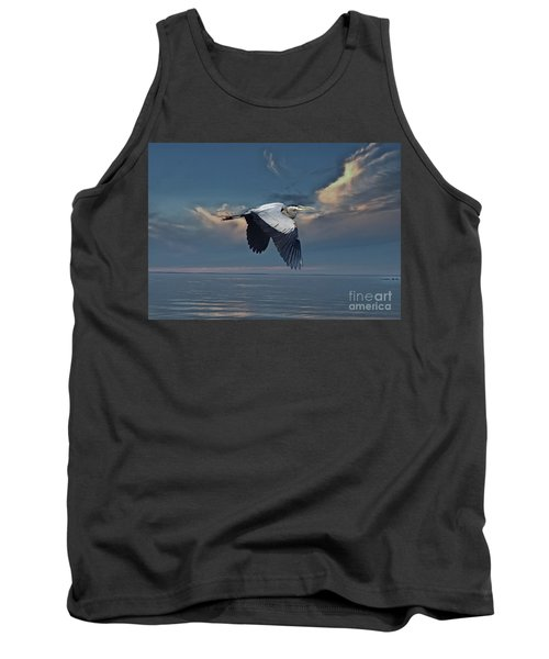 Heron Night Flight  Tank Top