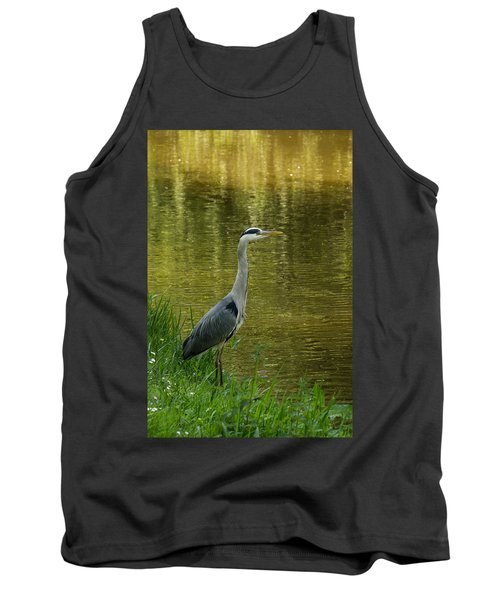 Tank Top featuring the photograph Heron Statue by Georgia Mizuleva