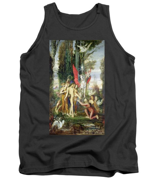 Hesiod And The Muses Tank Top by Gustave Moreau