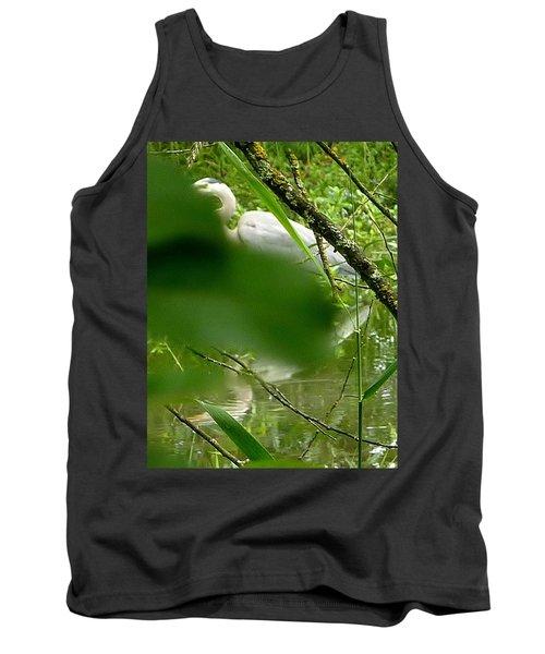 Tank Top featuring the photograph Hidden Bird White by Susan Garren