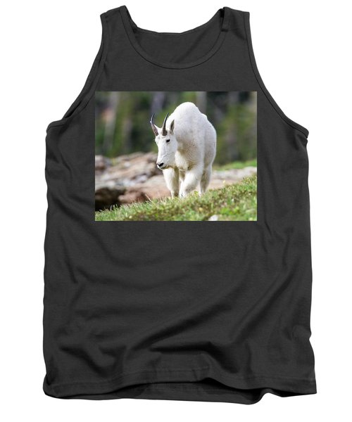Tank Top featuring the photograph High Country Mountain Goat by Jack Bell