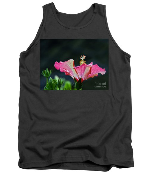 High Speed Hibiscus Flower Tank Top