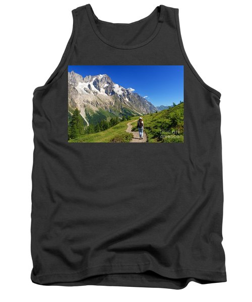 Tank Top featuring the photograph hiking in Ferret Valley by Antonio Scarpi