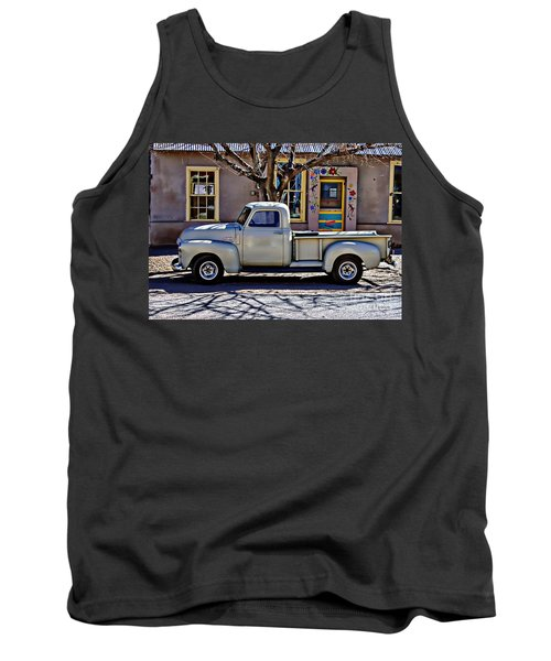 Tank Top featuring the painting Hillsboro New Mexico 1949 Gmc 100 by Barbara Chichester