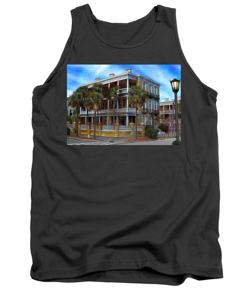 Tank Top featuring the photograph Historic Charleston Mansion by Kathy Baccari