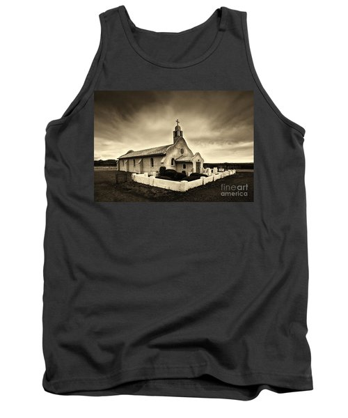 Historic Old Adobe Spanish Style Catholic Church San Ysidro New Mexico Tank Top by Jerry Cowart