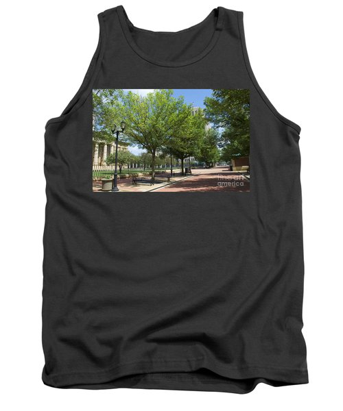 History -  Lincoln Square Springfield Il - Luther Fine Art Tank Top by Luther Fine Art