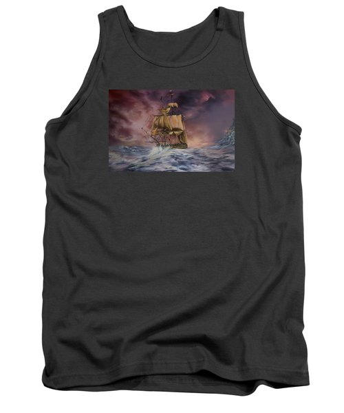 Tank Top featuring the painting H.m.s Victory by Jean Walker