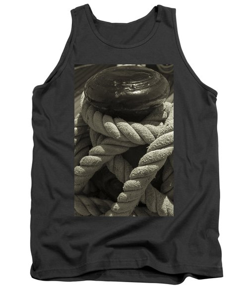 Hold On Black And White Sepia Tank Top