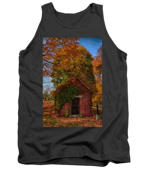 Tank Top featuring the photograph Holding Up The  Fall Colors by Jeff Folger