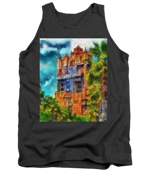 Hollywood Tower Hotel Wdw Photo Art 03 Tank Top