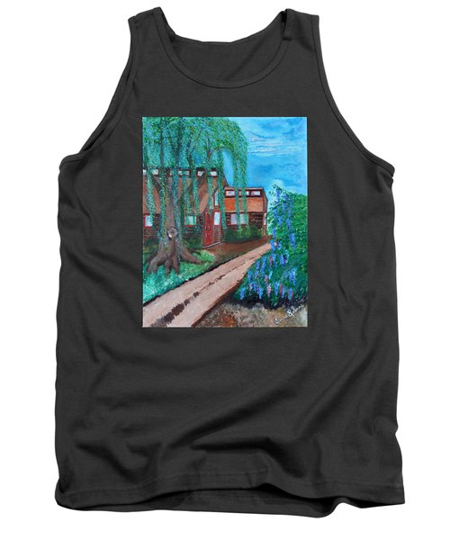 Tank Top featuring the painting Home by Cassie Sears