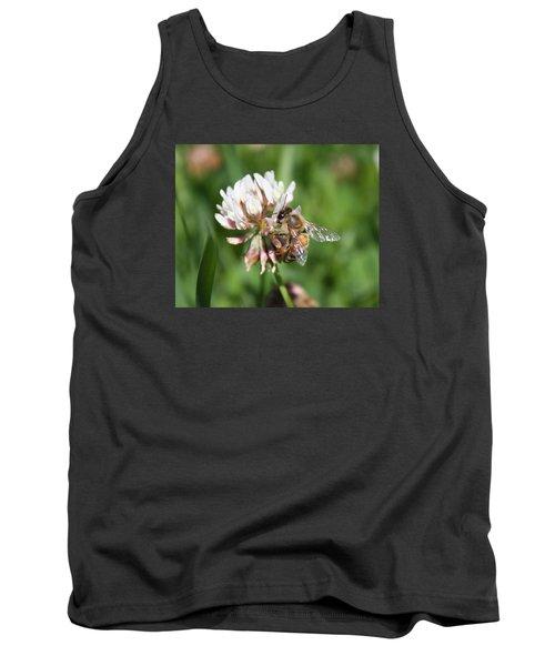 Honeybee On Clover Tank Top