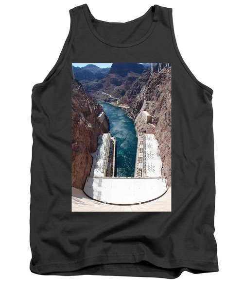 Tank Top featuring the photograph Hoover Dam Black Canyon by John Schneider