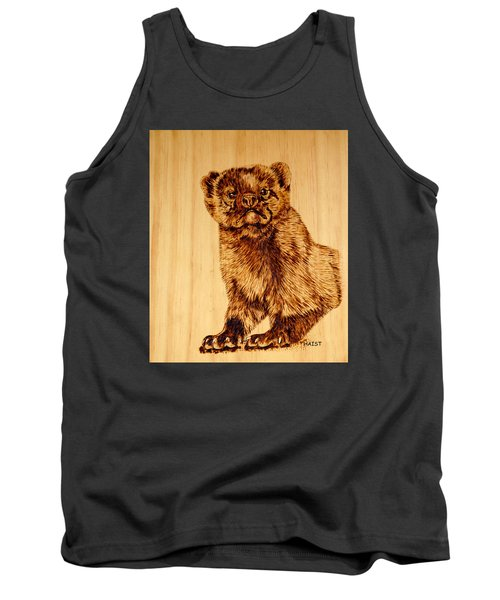 Tank Top featuring the pyrography Hope's Marten by Ron Haist
