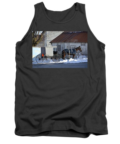 Horse And Buggy Parked Tank Top