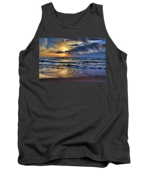Hot April Sunset Saugatuck Michigan Tank Top