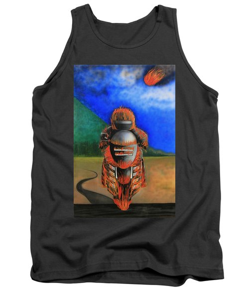 Tank Top featuring the painting Hot Moto by Tim Mullaney