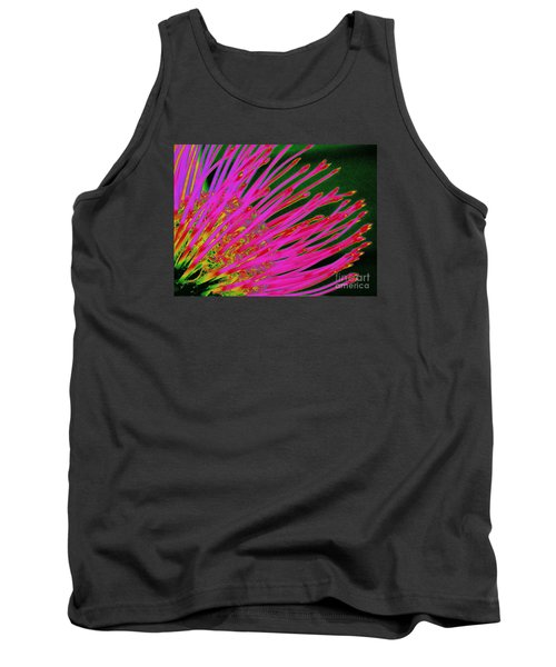 Hot Pink Protea Tank Top by Ranjini Kandasamy