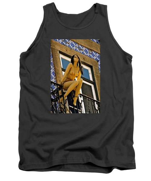 Hot Summer Day In Portugal Tank Top by Michael Cinnamond