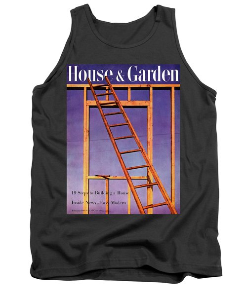 House & Garden Cover Illustration Of A Ladder Tank Top