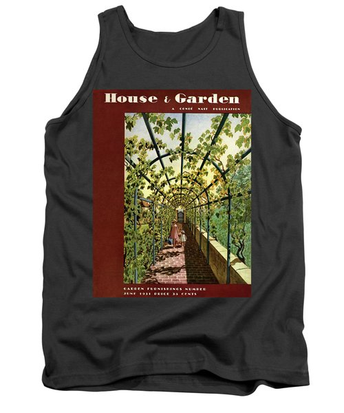 House & Garden Cover Illustration Of Young Girls Tank Top