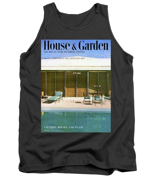 House & Garden Cover Of A Swimming Pool At Miami Tank Top