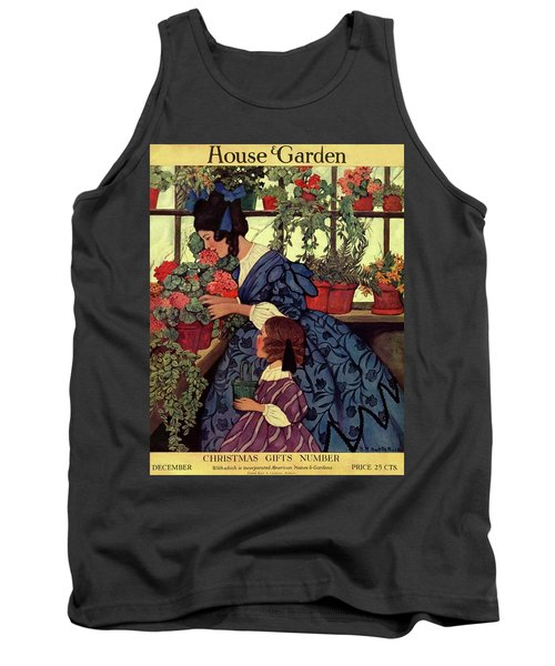 House And Garden Christmas Gift Number Cover Tank Top
