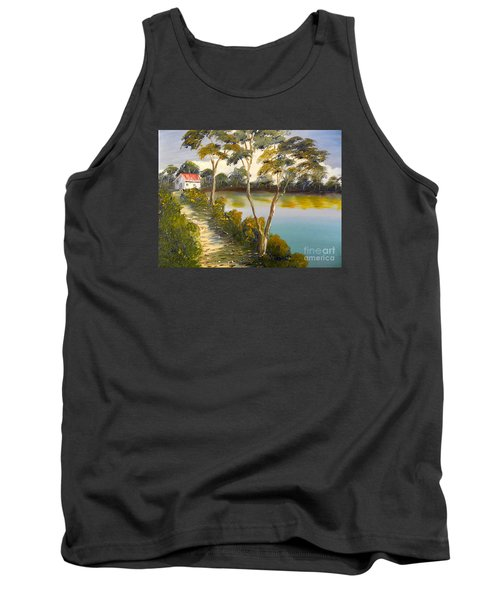 House By The Lake Tank Top by Pamela  Meredith