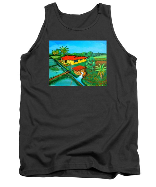 Tank Top featuring the painting House With A Water Pump by Cyril Maza