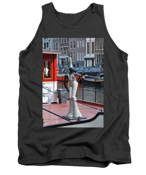 Tank Top featuring the photograph Houseboat Chanteuse by Allen Beatty