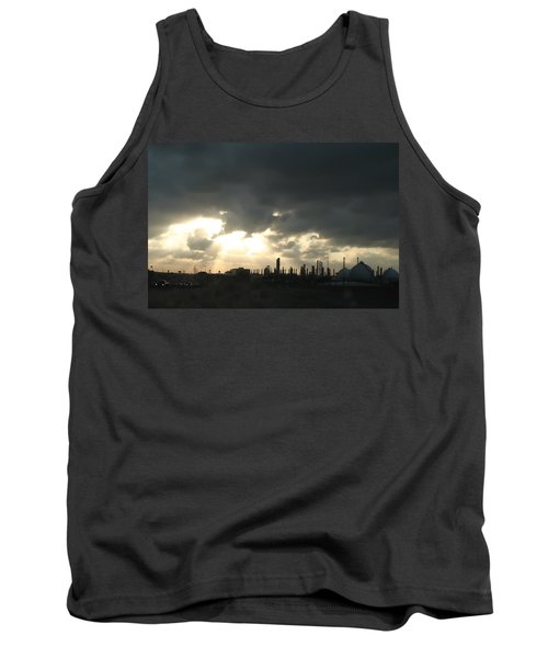 Houston Refinery At Dusk Tank Top by Connie Fox