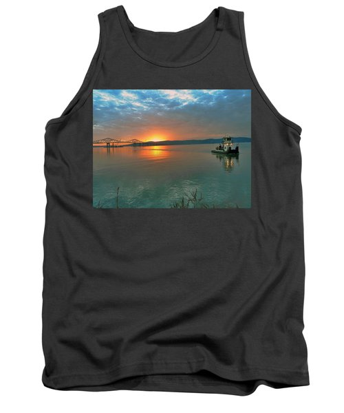 Hudson River Sunset Tank Top
