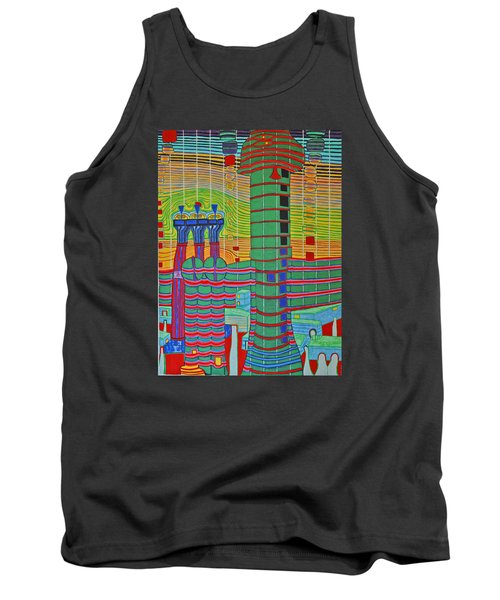 Hundertwasser Das Ende Griechenlands In 3d By J.j.b. Tank Top