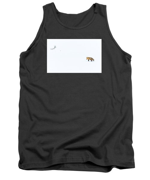 Tank Top featuring the photograph Hunting In White by Yeates Photography