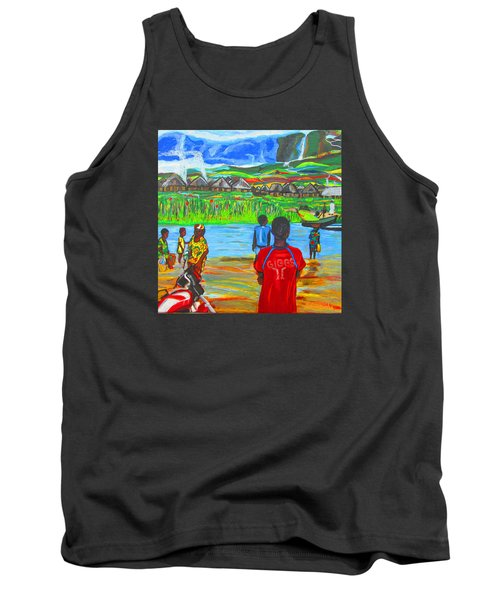 Tank Top featuring the painting Hurry Up There - Ryan Giggs Tribute by Mudiama Kammoh