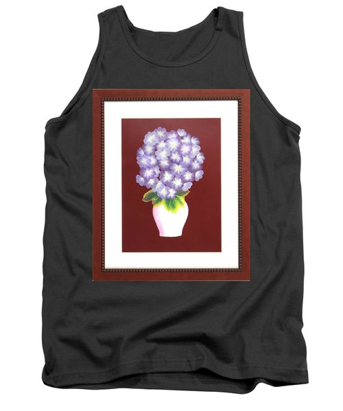 Tank Top featuring the painting Hydrangea by Ron Davidson