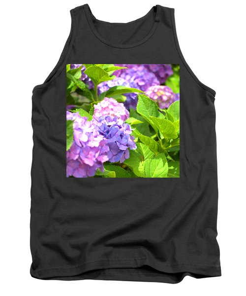 Tank Top featuring the photograph Hydrangeas In The Sun by Rachel Mirror