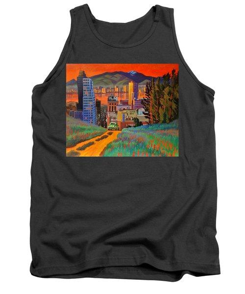 I Love New York City Jazz Tank Top by Art James West